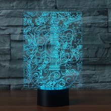 Buy guitar table lamps and get free shipping on aliexpress 3d led bedroom guitar table lamp 7 colors changing night light vision aloadofball Image collections