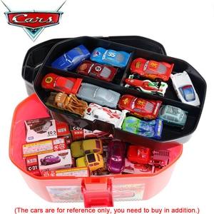 Image 5 - Disney Pixar Autos Spielzeug Auto Modell Parkplatz Tragbare McQueen Lagerung Box (Keine Autos) für Jungen Kinder Geburtstag Geschenk