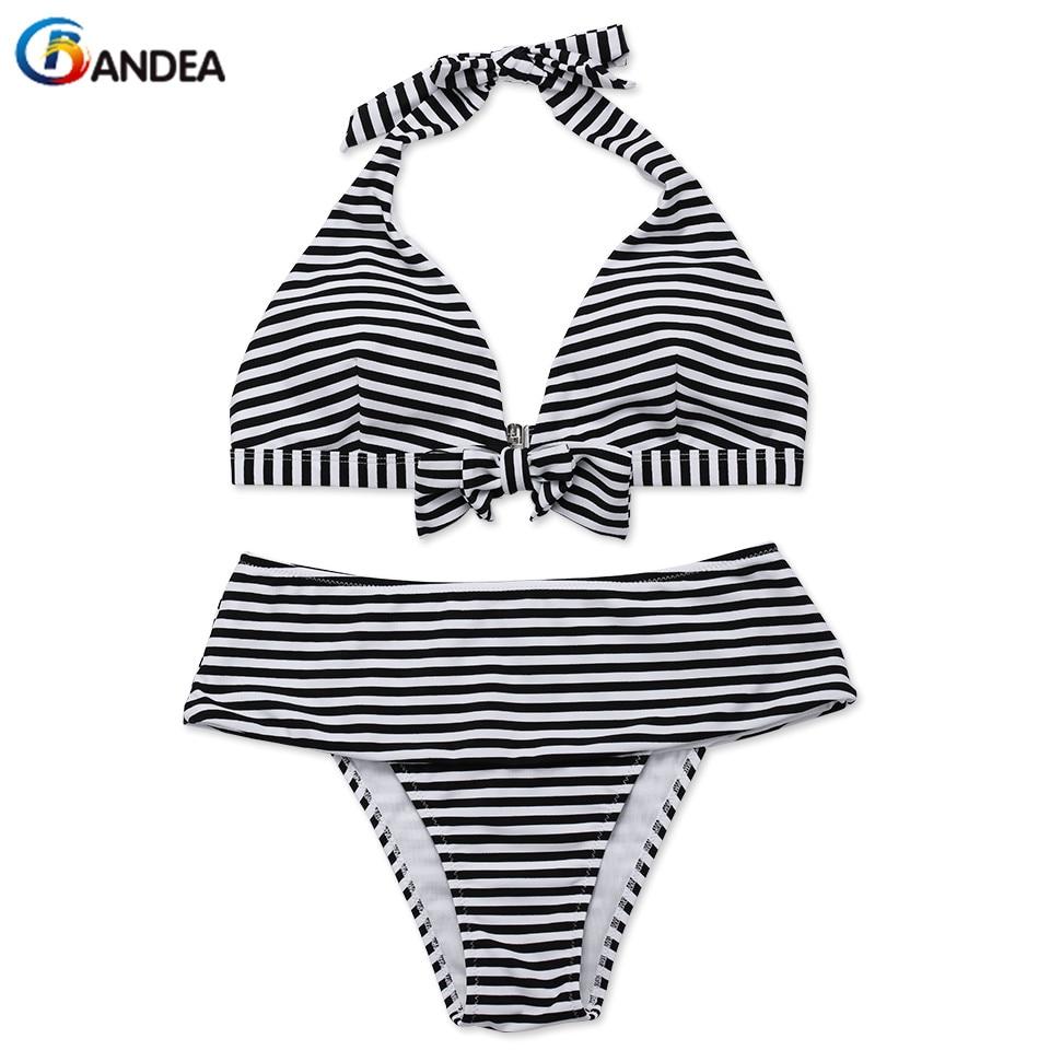 Bandea brand bikini sexy swimwear women bikini set stripe - Maillot piscine 2 pieces ...