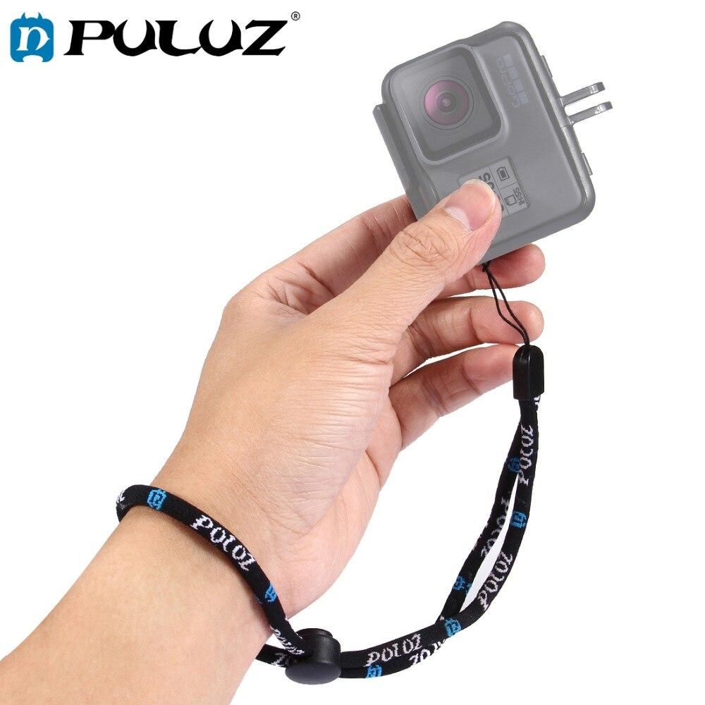 Corde de corde de lanière de main de corde de courroie de poignet réglable en Nylon de PULUZ pour Dji OSMO Ac GoPro nouveau héros/HERO7/6/5/5 4 Session/4/3 +/3/2/1