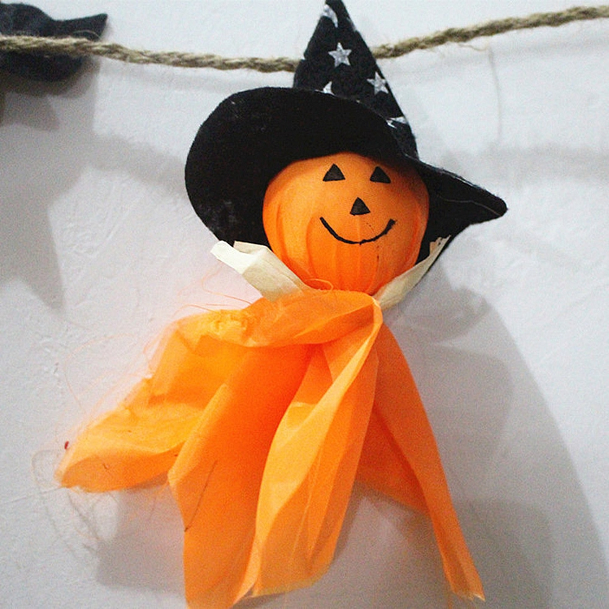 top grand halloween decorations flag doll lanyard cute pull flower bar classroom dress up props 413