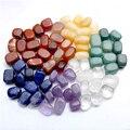 Set of 7 Chakras Crystal Healing Tumbled Natural Stones Irregular Shape 15mm-25mm Crystals Decoration With Gift Box
