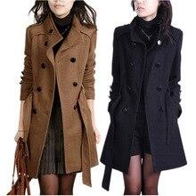 Ткань пальто женский популярный стиль длинное в Женская одежда шерстяное пальто cultivate one's morality приталенное плащ