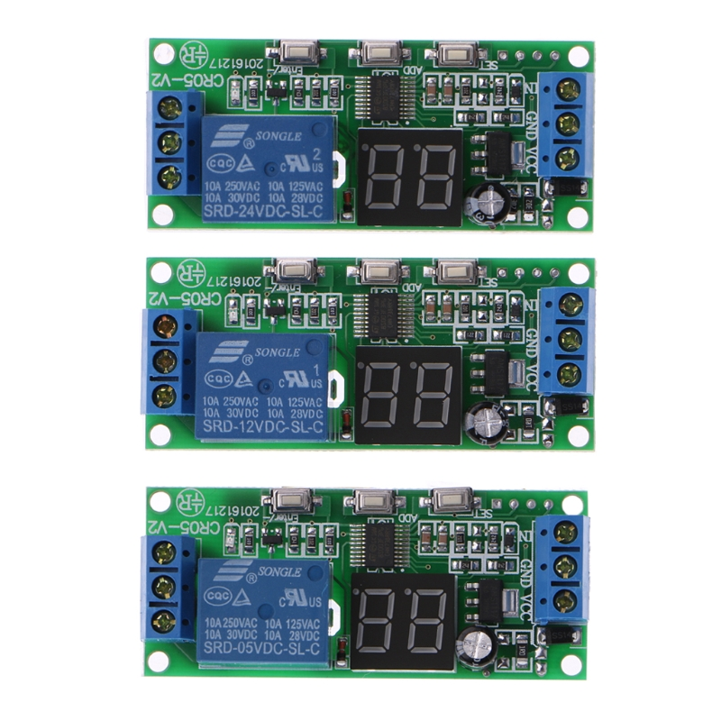 Electrical Circuit Breaker DC 5V 12V 24V LED Display Multifunction Cycle Delay Timer Relay Switch Module