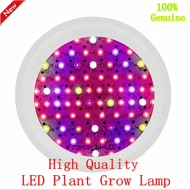 Discount LED Grow lamp 216W hanging line round UFO full spectrum 72X3W plant lights Red + Blue + IR + UV + warm white + White