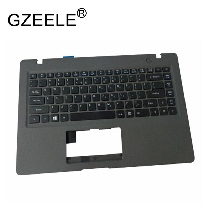 GZEELE nouveau pour Acer Aspire One Cloudbook 1-431 1-431 M AO1 431 ordinateur portable gris écran plat boîtier supérieur clavier lunette