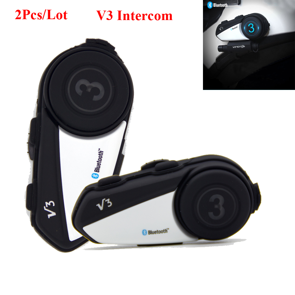 2 PCS/Lot Vimoto Easy Rider V3 multi-fonctionnel moto BT Interphone moto casque Interphone Bluetooth casque Interphones