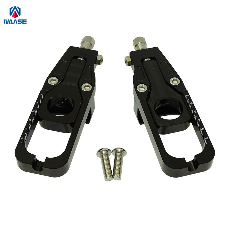 waase Chain Adjusters Tensioners Catena For Kawasaki Ninja ZX-6R ZX6R 2005 2006 2007 2008 2009 2010 2011 2012 2013 2014-2016 for kawasaki zx10r 2006 2015 2007 2008 2009 2010 2011 2012 2013 2014 red