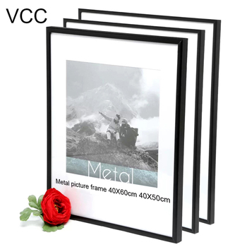 3Pcs Bundle Pack 40X50cm 40X60cm Picture Frame Metal Poster Frame Aluminum Photo Frames For Wall Hanging 16X24Inch 16X20Inch