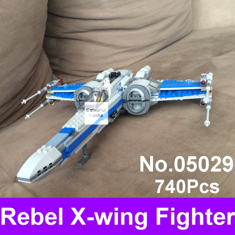 LEPIN 05029 740Pcs Star Series Wars Rebel X-wing Fighter Assembled Building Blocks Bricks Compatible 75149 Toys Children Gift hot sale building blocks assembled star first wars order poe s x toys wing fighter compatible lepins educational toys diy gift