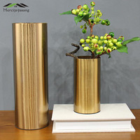 Flowers Vases Table Centerpiece Vase Metal Gold Tabletop Flower Holder Iron Art for Home/Wedding Decoration Best Gifts G044