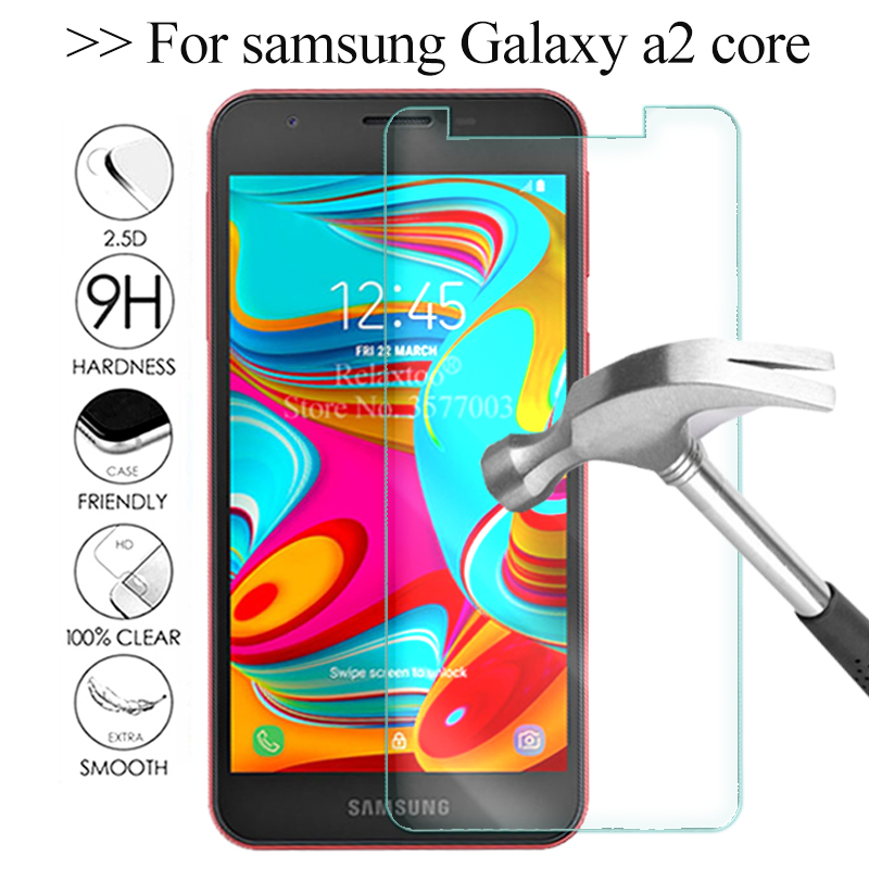 For Samsung Galaxy A2 Core Protective Glass On The For Samsung A2 Core Safety Tempered Glas A 2 A2core 2a Screen Protector Film