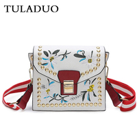 RANYUE Embroidery Bags Women 2017 New Fashion Crossbody Bags For Women Luxury Brand PU Flap Messenger