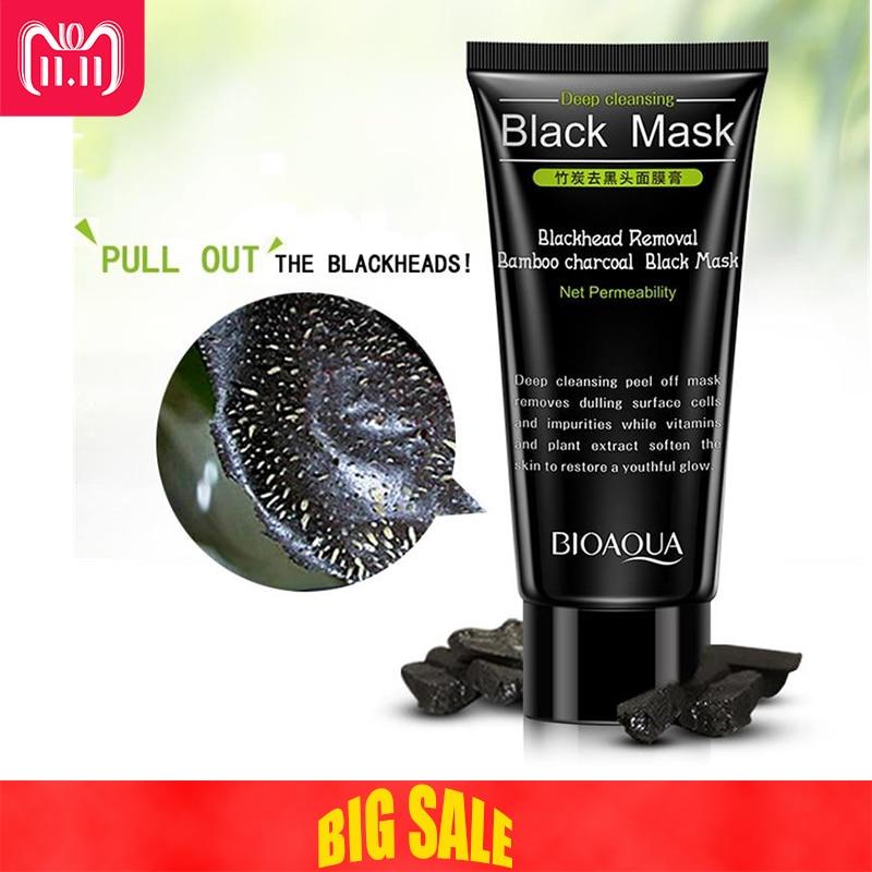 цена на Blackhead Removal  Bamboo charcoal Black Mask Deep Cleansing Peel Off Mask Pores Shrinking Acne Treatment Oil-control