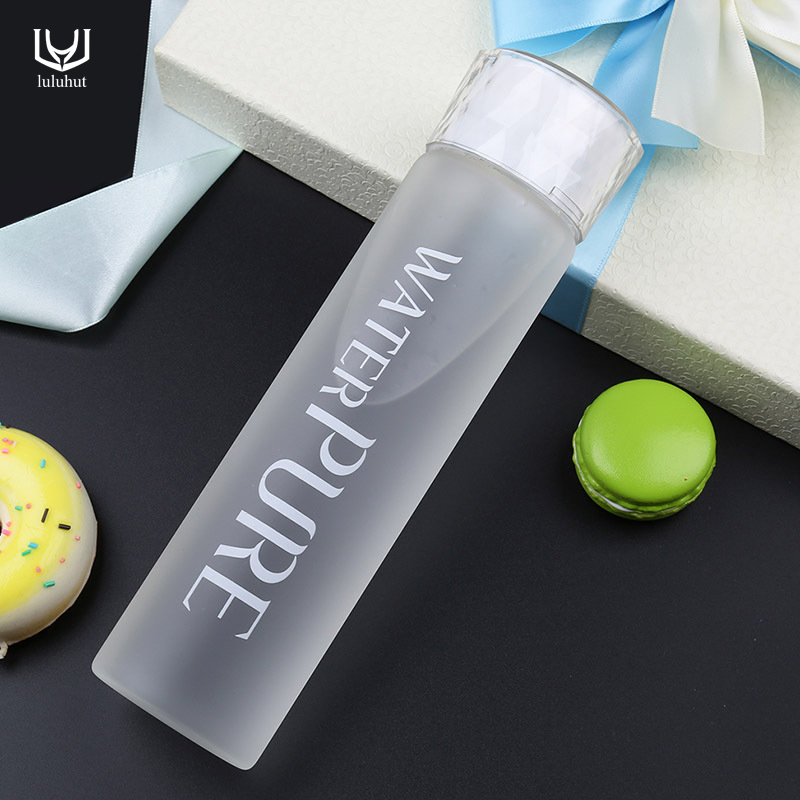 luluhut gift gradient glass bottle Transparent glass frosted bottle Travel water bottle Portable Direct Drinking glass