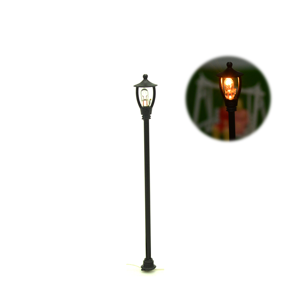 10pcs Single Head Scale Lampposts Train N Scale Lights Model Scale Street Lamps Model Building Lights