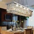 Кристаллическая Люстра L500mm K9  прямоугольная люстра для столовой  Современная Потолочная люстра