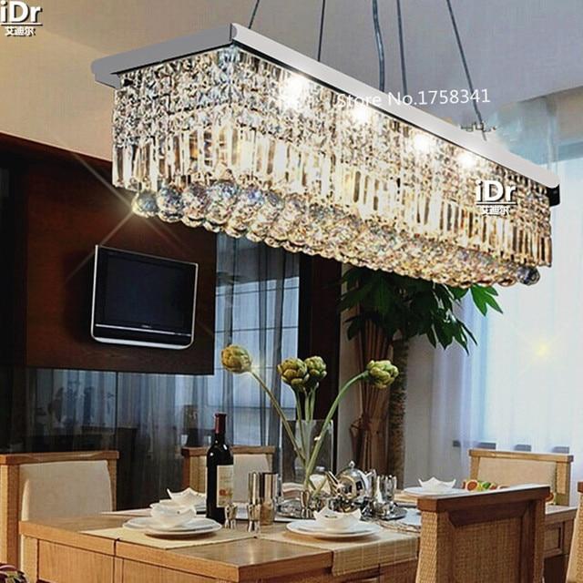 El nuevo listado L500mm K9 cristal lámpara para comedor rectángulo ...