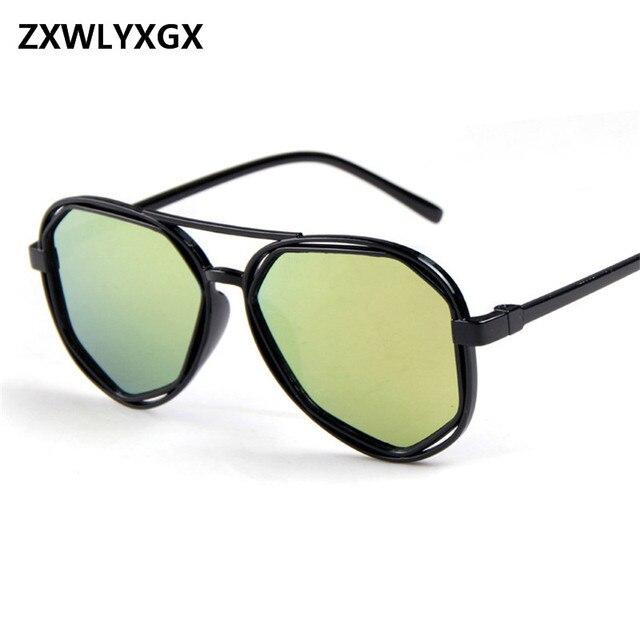 234bfaca1a 2017 Fashion Sunglasses Women Small Frame Polygon Clear Lens Sunglasses Men  Vintage Sun Glasses Hexagon Metal Frame