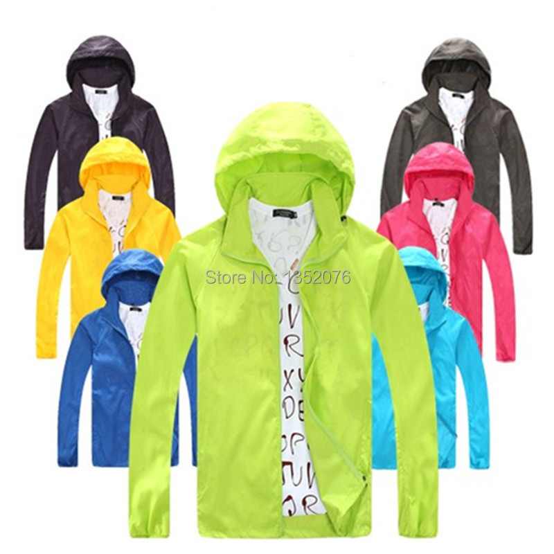 Prix pour Printemps été Sport de plein air mince veste coupe - vent imperméable de protection solaire mouvement manteau léger à séchage rapide randonnée vestes