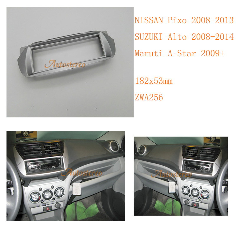 ZWNAV 11-256 Car Radio Fascia for NISSAN Pixo,SUZUKI Alto,Maruti A-Star Fascia Panel Stereo Surround Adaptor Radio 1-Din