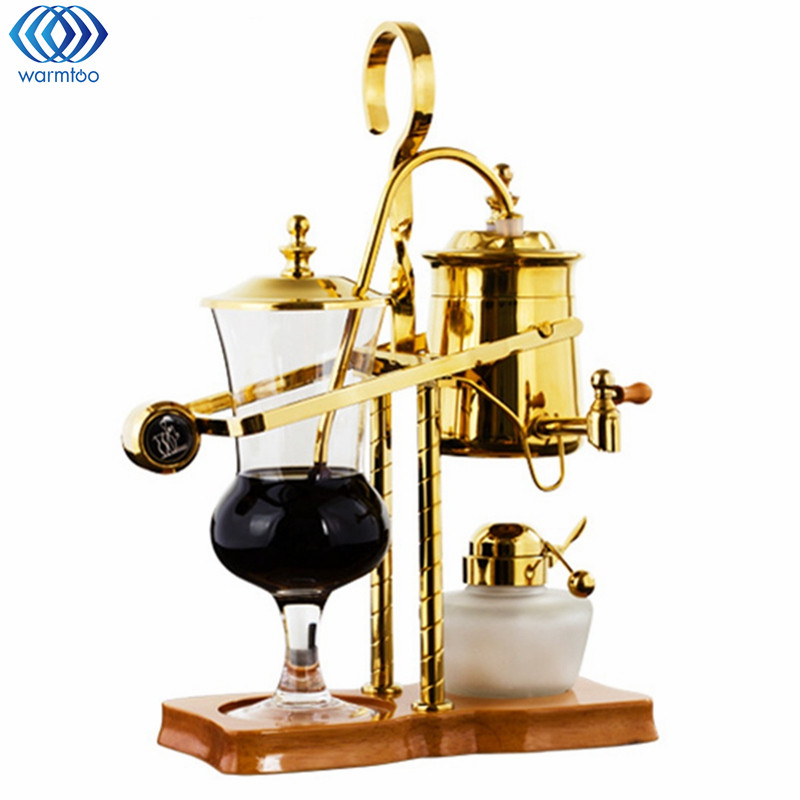 Golden Drop Royal Balancing Siphon Coffee Machine Belgium Coffee Maker Alcohol Lamp Siphon Vacumm Coffee