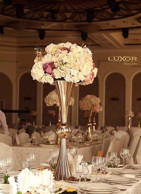 50 60 70 Cm Tall Gold Nice Wedding Centerpiece Vase In Party