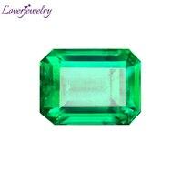 LOVERJEWELRY Natural Green Emerald Loose Gemstone For DIY Rings Pendants GRS Certificate Colombia Emerald Gemstone Fine Jewelry