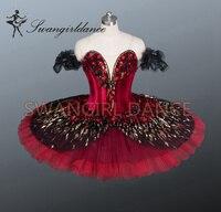 2014 New Arrival Adult Black Classical Red Swan Lake Ballet Tutu Black Professional Performance Ballet Tutus