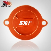 For KTM 250 350 450 SX-F 505SX-F SX F CNC Aluminum Motorcycle Oil Cap Oil Fuel Filter Racing Engine Tank Cover все цены