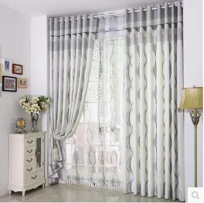 Telas de las cortinas transparentes   compra lotes baratos de ...