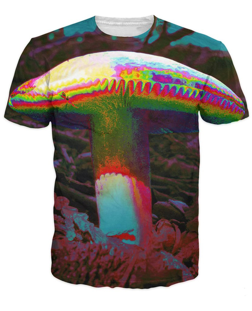 aa4fa01a497c Trippy Mushroom T-Shirt a psychedelic-looking shroom 3d colorful print t  shirt summer