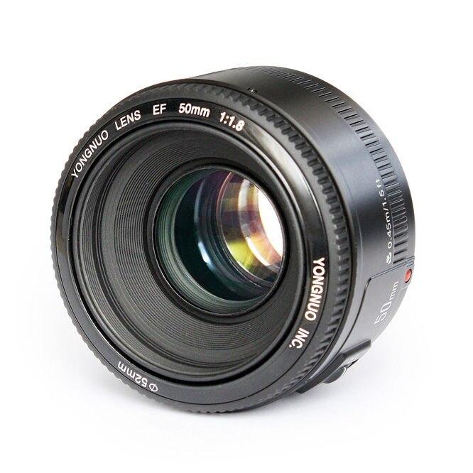 Prix pour Yongnuo yn ef 50mm f/1.8 af objectif ouverture mise au point automatique yn50mm f1.8 objectif pour canon eos dslr caméras