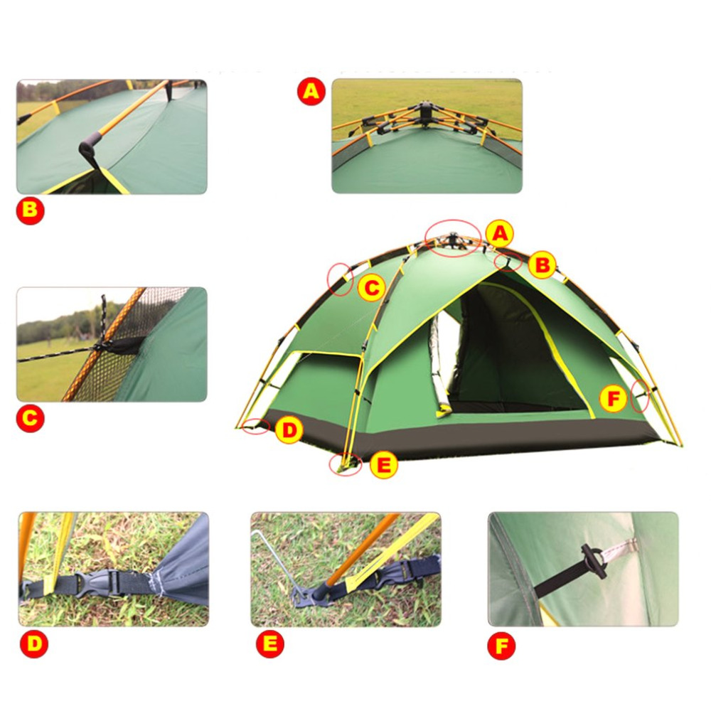 DESERTCAMEL CS070 3 Three used Automatic Tent Portable Rainproof Tent Double Layers Outdoor C&ing Hiking Tent For 2 Persons-in Tents from Sports ...  sc 1 st  AliExpress.com & DESERTCAMEL CS070 3 Three used Automatic Tent Portable Rainproof ...