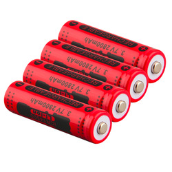 2017 newest 4pcs 14500 3 7v 2800mah red rechargeable li ion battery for led torch flashlight.jpg 250x250