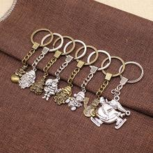 WYSIWYG Santa Claus Christmas Gifts Key Chain For Diy Handmade Jersey Man Snowman