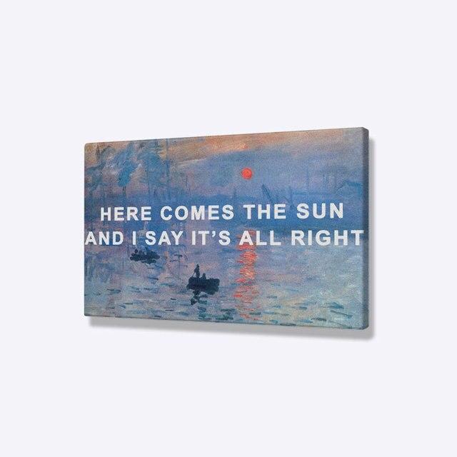 Impression Sunrise by Claude Monet | Peinture artistique, décor de maison, salon et chambre à coucher, affiche imprimée, peinture sur image, toile dart murale