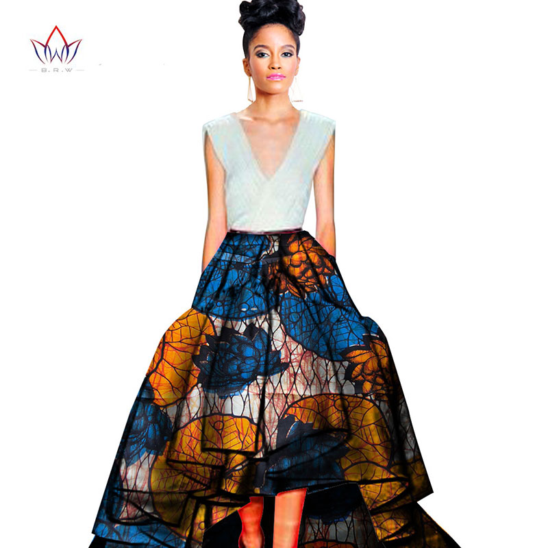fffc1e9fd30 2019 christmas skirt African Print one piece long skirts for women Unique  african plus size clothing African Ankara Skirt WY458