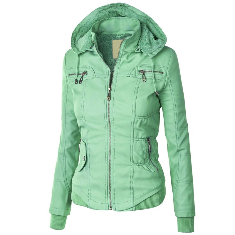 Sisjuly women european coat zipper hoodies cap long sleeve autumn winter jacket coat 1