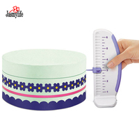 Plastic Fondant Cake Ruler Molds Cake diagnostic Tools Cake Marker Leveler Decorator Garland Border Baking Pastry Tools