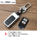 Genuine Leather CAR KEY CASE For HONDA JADE FIT NEW CROSSTOUR VEZE 15CR-V 15SPIRIOR Use Automobile Special-purpose CAR KEY HOLDE