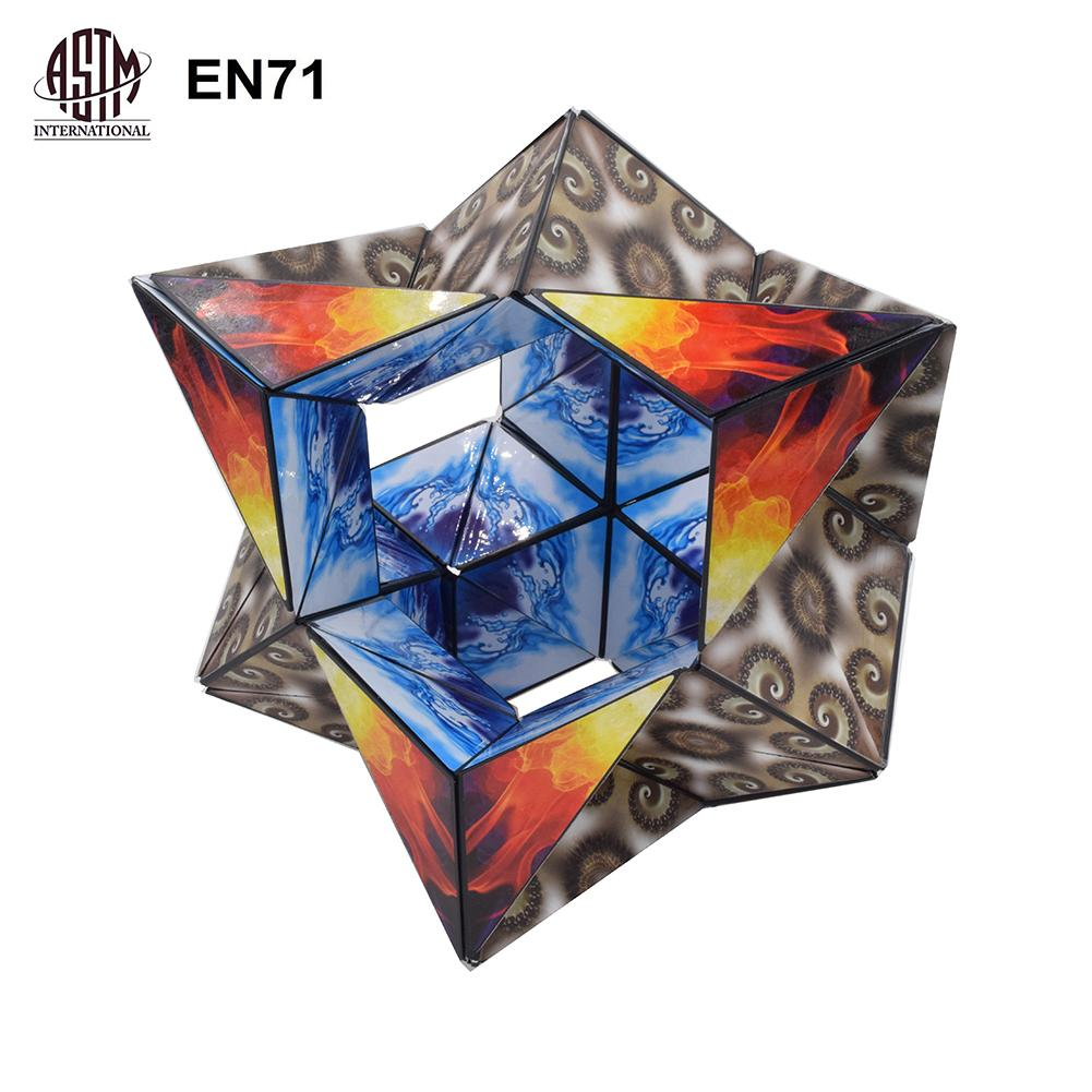 Magic Cube 5D Space Magic Cube 3*3 Interaction Pressure Relief Toy Professional Speed Magic Cube Puzzle Special