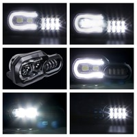 Заездов аксессуары светодиодный halo фар Hi/Lo Ассамблея заменить для BMW F800GS и F700GS F650GS мотоцикл фары с углом глаза