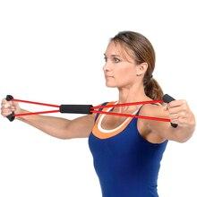 8-form Pilates Fitness Styrke Latex Loop Modstandsbånd Træning Yoga Udstyr Sport Elastisk Gym Crossfit Træningsrør