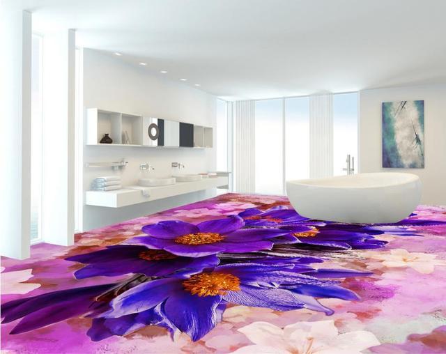 Personalizzato Wallpaper 3d Impermeabile Piastrelle Per Bagno con ...