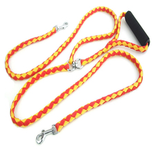 High Quality Nylon Weaving Durable One Drag Two Dog Leash While Holding Dogs Double-headed Pet Traction Rope Leashes