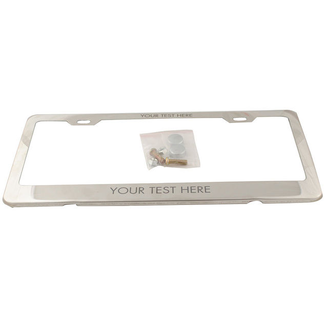 Hot Sale Personalized Engraved License Plate Tag Frame Text Custom ...