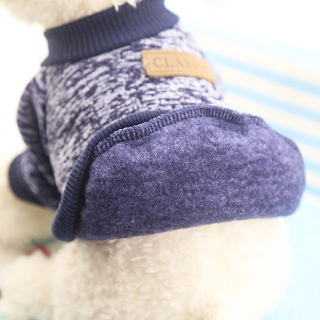 Classic Winter Warm Dog Clothes Puppy Pet Cat Jacket Coat Fashion Soft Sweater Clothing For Chihuahua Yorkshire 9 Colors S-2XL