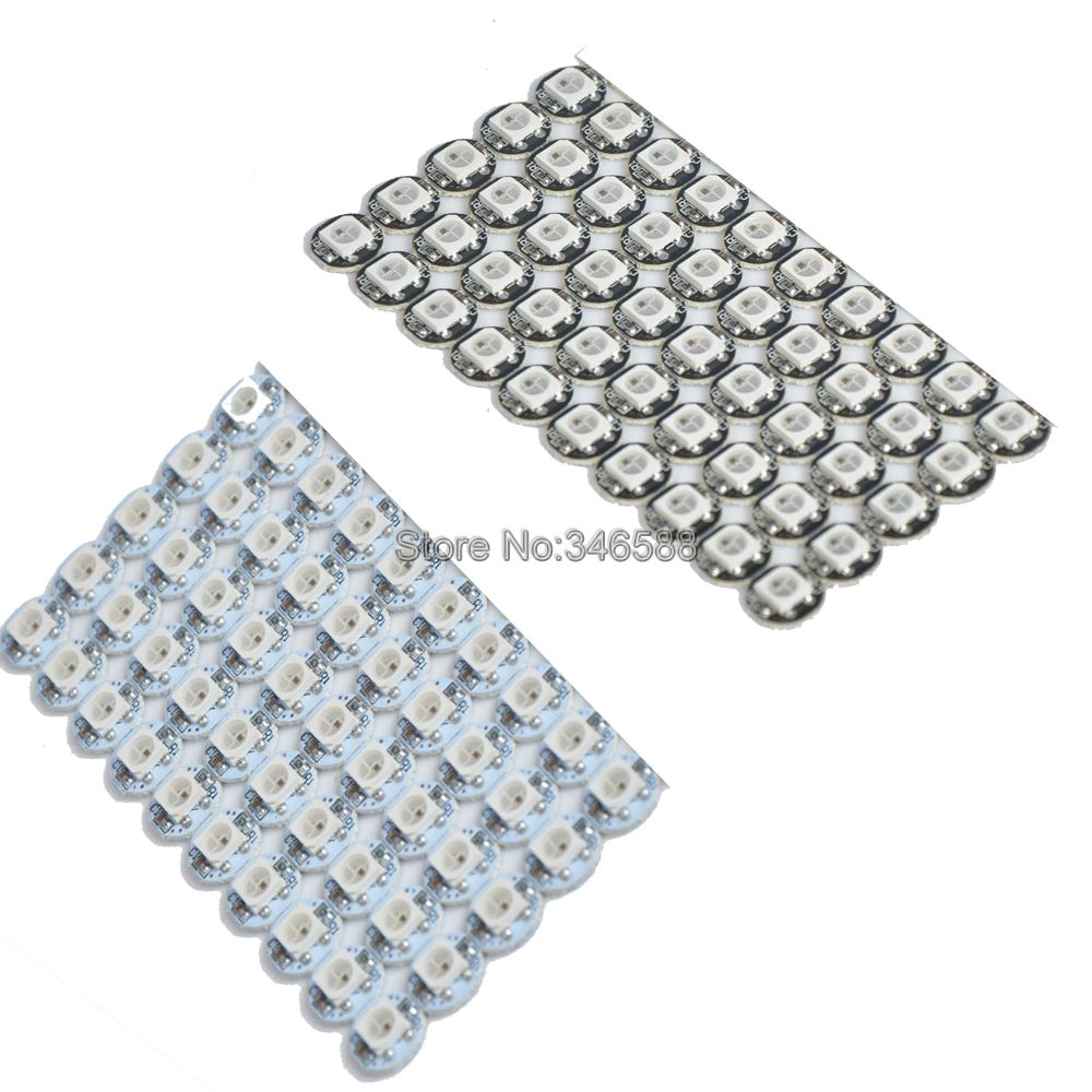 10-100pcs <font><b>DC5V</b></font> <font><b>WS2812B</b></font> Individually Addressable RGB Full Color Built-in WS2811 IC 5050 SMD LED Chip Black White PCB (10mm*3mm) image