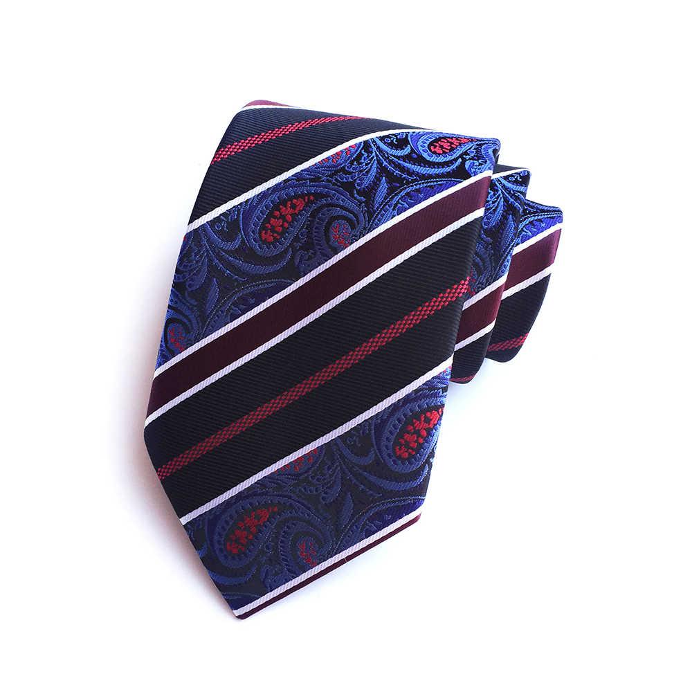 RBOCOTT الرجال التعادل مجموعة الأرجواني الأصفر بيزلي مخطط الحرير رباطات للرقبة منديل مجموعة 8 سنتيمتر ربطة العنق الجيب ساحة للرجال الزفاف